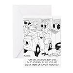 Mechanic Cartoon 9355 Greeting Cards (Pk of 20)