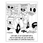 Mechanic Cartoon 9355 Small Poster