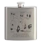 Mechanic Cartoon 9355 Flask