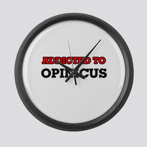 Addicted to Opinicus Large Wall Clock
