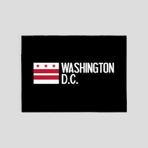 Washington D.C.: Washington D.C. Fl 5'x7'Area Rug