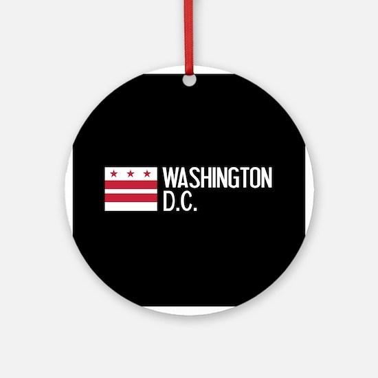 Washington D.C.: Washington D.C. Fl Round Ornament