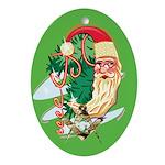 Masonic Crescent Santa Oval Ornament