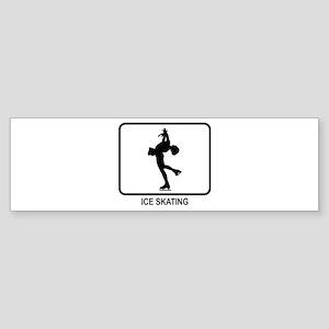 Womens Ice Skating (white) Bumper Sticker
