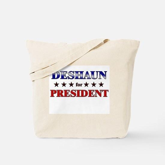 DESHAUN for president Tote Bag