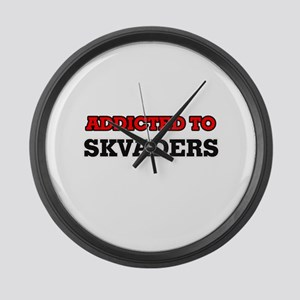 Addicted to Skvaders Large Wall Clock