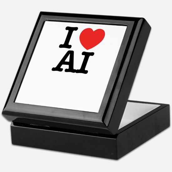 I Love AI Keepsake Box