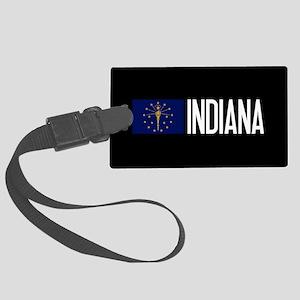 Indiana: Hoosier Flag & Indiana Large Luggage Tag