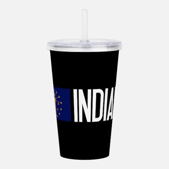 Indiana: Hoosier Flag Acrylic Double-wall Tumbler