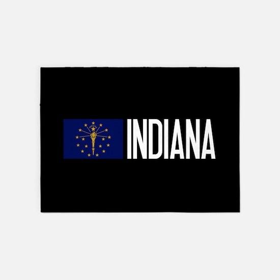 Indiana: Hoosier Flag & Indiana 5'x7'Area Rug