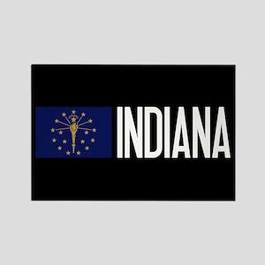 Indiana: Hoosier Flag & Indiana Rectangle Magnet