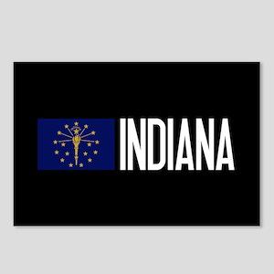 Indiana: Hoosier Flag & I Postcards (Package of 8)