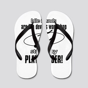 Stay Busy Soccer Flip Flops