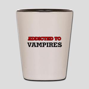 Addicted to Vampires Shot Glass