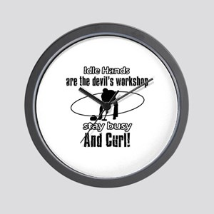 Stay Busy Curl Wall Clock