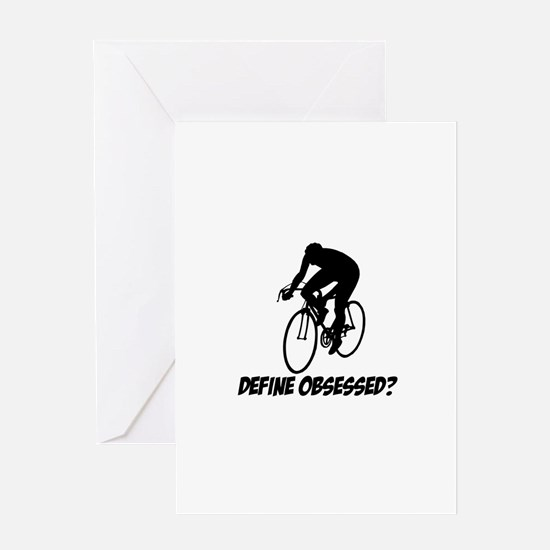cycle Define Obsessed Greeting Card