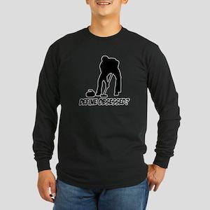 Curling Define Obsessed Long Sleeve Dark T-Shirt