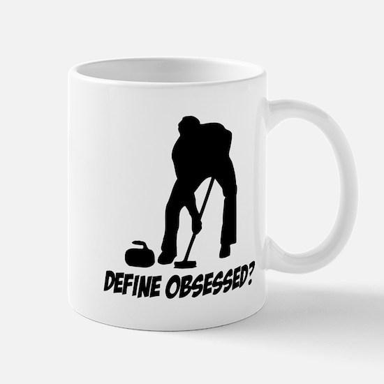 Curling Define Obsessed Mug