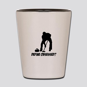 Curling Define Obsessed Shot Glass