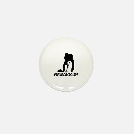 Curling Define Obsessed Mini Button