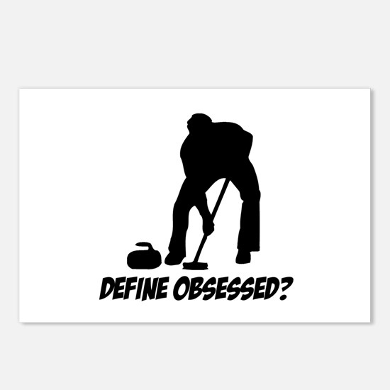 Curling Define Obsessed Postcards (Package of 8)