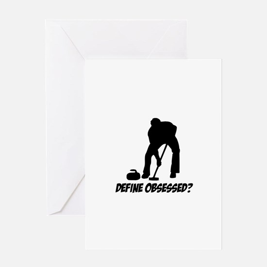 Curling Define Obsessed Greeting Card