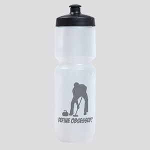Curling Define Obsessed Sports Bottle