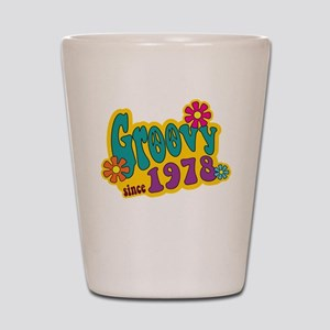 Groovy Since 1978 Shot Glass