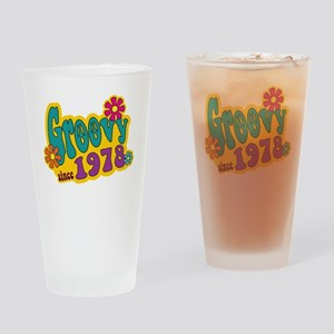 Groovy Since 1978 Drinking Glass