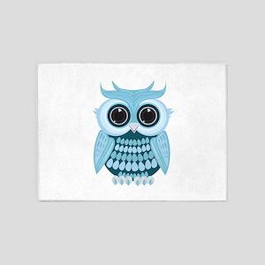 Baby Blue Owl 5'x7'Area Rug
