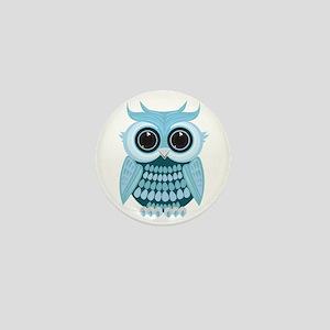 Baby Blue Owl Mini Button