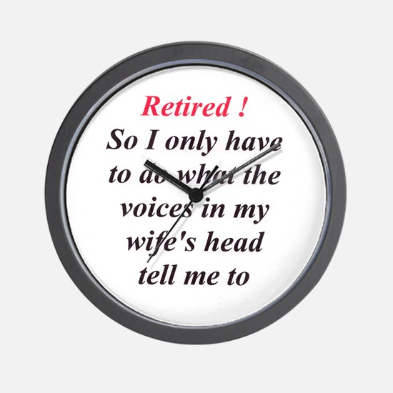 Retiring Men Wall Clock