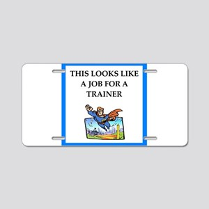 trainer Aluminum License Plate