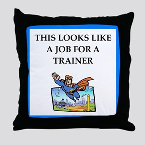 trainer Throw Pillow