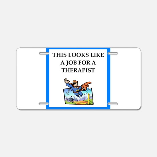 therapy Aluminum License Plate