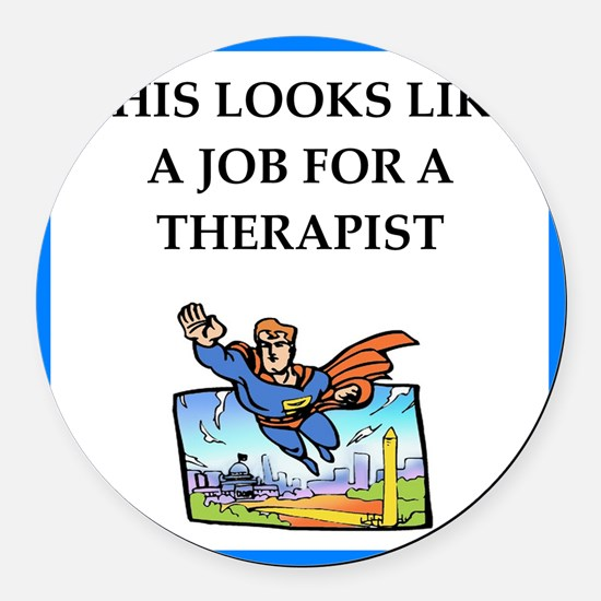 therapy Round Car Magnet