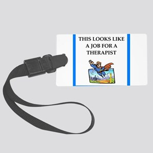 therapy Luggage Tag