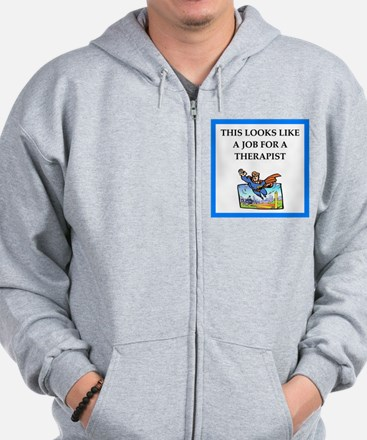 therapy Zip Hoodie