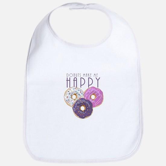 Donuts Make Me Happy Bib