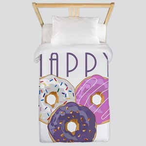 Donuts Make Me Happy Twin Duvet