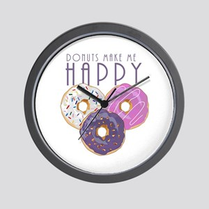 Donuts Make Me Happy Wall Clock