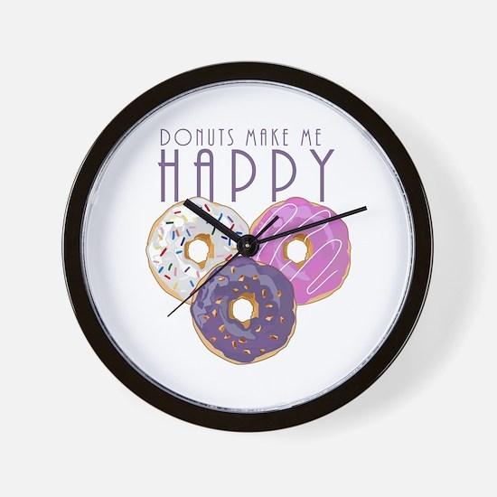 Donuts Make Me Happy Wall Clock