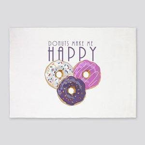 Donuts Make Me Happy 5'x7'Area Rug