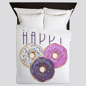 Donuts Make Me Happy Queen Duvet