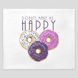 Donuts Make Me Happy King Duvet