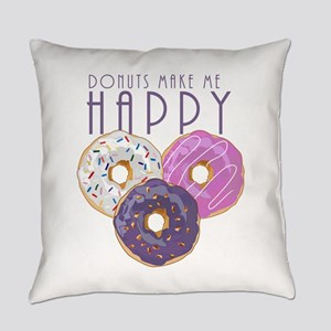Donuts Make Me Happy Everyday Pillow