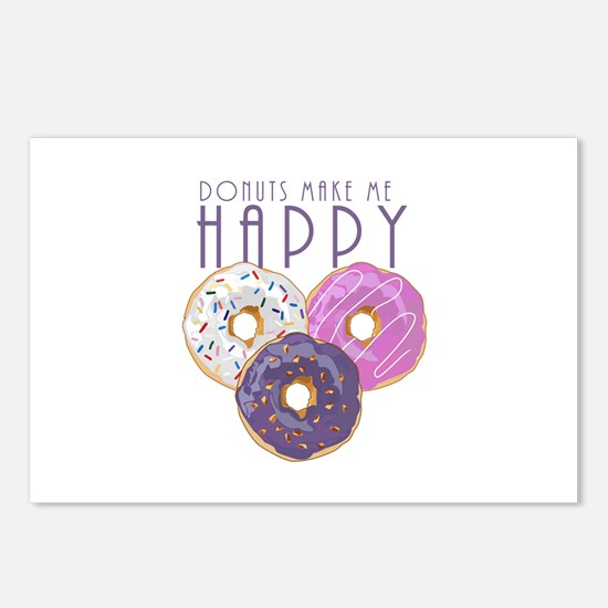 Donuts Make Me Happy Postcards (Package of 8)