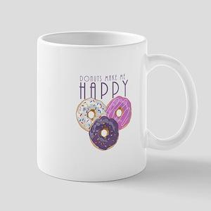 Donuts Make Me Happy Mugs