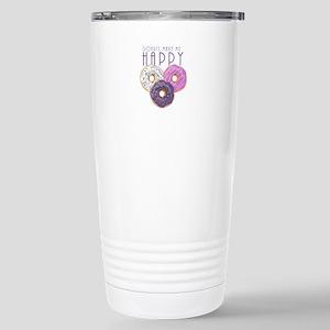 Donuts Make Me Happy Stainless Steel Travel Mug