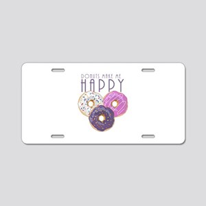 Donuts Make Me Happy Aluminum License Plate